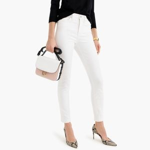 J crew white high rise toothpick jeans p25